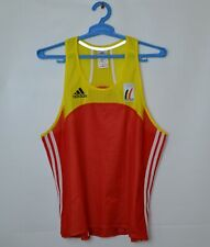 Belgium Olympic Track And Field Team Race Marathon Running Singlet Vest ADIDAS