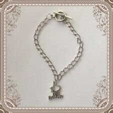"New Silvertone I Love My Soldier Charm 8"" Toggle Bracelet"