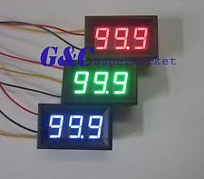 10Pcs Red Led Panel Meter Mini Digital Voltmeter Dc 0V To 99.9V Three-wire M16