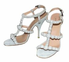 Alaia Light Gray Suede Mini Bombe T-Strap Heels Sandals   Size 38.5