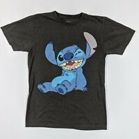 Stitch T Shirt Adult Small Disney Lilo And Stitch Gray Big Graphic
