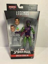 "Marvel Legends Green Goblin 6"" Action Figure Baf Head Sandman New"