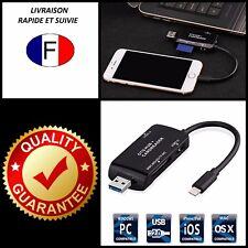 Cable Adaptateur Multi en 1 USB/OTG HUB/LECTEUR DE CARTE