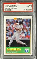 1993 Duracell Power Players #19 Don Mattingly PSA 9 Mint *Only 19 Graded Higher*