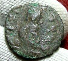 Byzantine Arab follis emperor standing con to identify