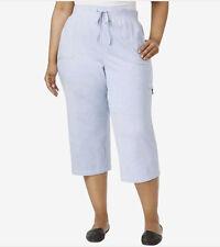 a8763b46baf Pants Karen Scott Plus Size Capri Sweat Light Blue Heather 2x