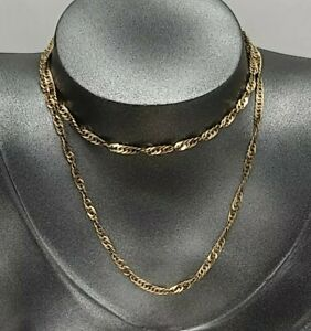 9 CARAT GOLD PRINCE OF WALES LINK NECKLACE CHAIN