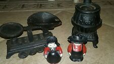 Small Toy Miniature Cast Iron Pot Belly Stove  scale 2 Amish children