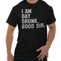 Day Drunk Funny Beer Drinking Bar Crawl Gift Short Sleeve T-Shirt Tees Tshirts