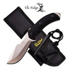 Elk Ridge Full tang Tactical Survival Bushcraft Knife Sheath & Fire Starter '
