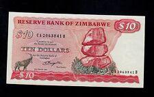 ZIMBABWE  10 DOLLARS 1980  CA-B  PICK # 3a  AU.