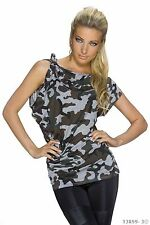Mehrfarbige hüftlange Kurzarm Damenblusen, - tops & -shirts für die Freizeit