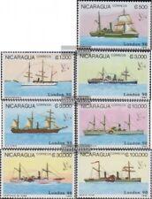 Nicaragua 2977-2983 (kompl.Ausg.) postfrisch 1990 Alte Dampfschiffe