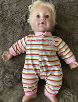 2007 IRWIN BABY SO REAL DOLL CURLY BLONDE HAIR BROWN EYES HEAVY