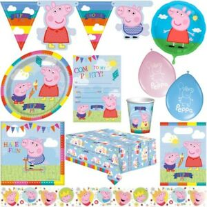 Peppa Wutz Peppa Pig Children Birthday Set Deco Party Set Theme Party Decoration