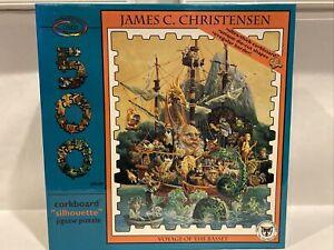 James C Christensen VOYAGE of the BASSET 500 Piece Puzzle SEALED Corkboard