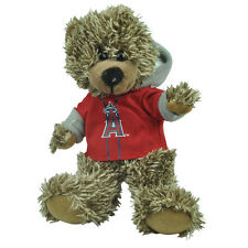 "MLB Los Angeles Angels Red Hoodie Stuffed Plush Mini Teddy Bear 9"" Small Brown"