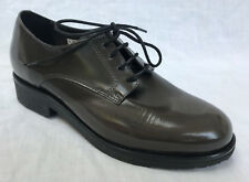 BNIB Clarks Ladies Edena Duo Grey Two Tone Leather Flat Lace Up Shoes