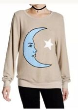 Wildfox Moon and Star Pullover Sweater S NWT