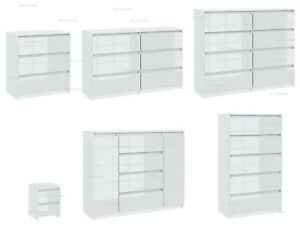 Chest of  Drawers  Sideboard TV unit cabinet storage White Gloss Fronts