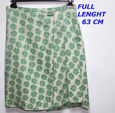 RUTZOU  LADY WOMAN GREEN COLOR DESIGN SKIRT MARKED SIZE 38 LENGTH 63 CM