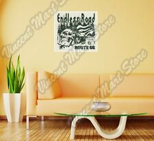 "Endless Road Route 66 Biker Bike Gift Wall Sticker Room Interior Decor 22""X22"""