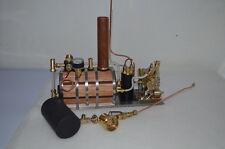 Q2 V-twin cylinder steam engine+ Boiler + Tank