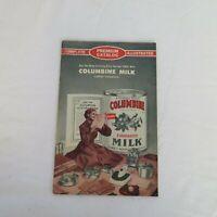 Columbine Milk Premium Catalog Vintage Denver Colorado Advertising