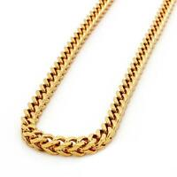 10k Yellow Gold Miami Cuban Link Necklace, For Men/Women, Franco, Rope Curb