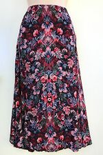 DIANA FERRARI Viscose Crepe Mid Length Autumn Tones Skirt sz 10 NWT Rrp$129.95