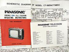 PANASONIC TV The Woodmont - Model CT-98D Instructions & SCHEMATICS CT98DC