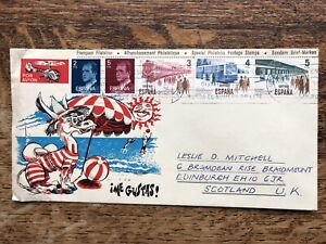 Spain 1980 Airmail Cover To Uk