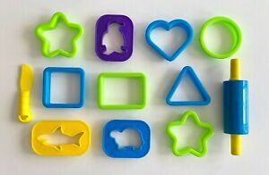 Vintage Play Doh Shapes Animal Molds Press Rolling Pin Tools Accessory Lot