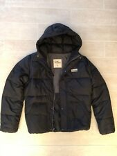 New Hollister by Abercrombie Mens Puffer Hooded Jacket Coat - NAVY  Medium