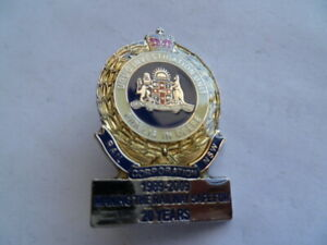 aust nsw rail corp drug investigation unit badge for the 20 year anv