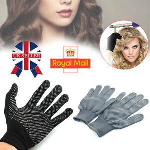 2X Heat Proof Resistant Protective Gloves for Hair Styling Tool Straightener UK