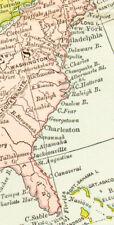 1903 Color Map of NORTH AMERICA - the US, BRITISH CANADA, MEXICO, GREENLAND +++