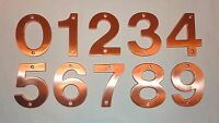 """Decorlux Solid Brass House Numbers 4"""" 0 1 2 3 4 5 6 7 8 9 SATIN COPPER NEW"""