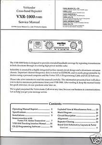 NEW Yaesy/VS VXR-1000 VHF Cross-Band Repeter Service Manual book in English