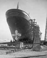 Photograph of Dry Docked Steamer Thomas F. Cole of Duluth  Year 1907  8x10