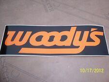 "1- 3"" X 9"" WOODY'S Traction Sticker  (New Orange and Black) Vinyl Sticker"