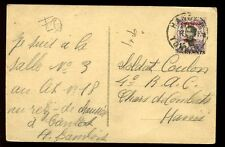 France Cols Indo Chine Tchongking 6con15c 1928 PPC local Hanoi soldier mailing