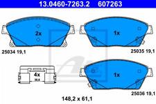 Bremsbelagsatz, Scheibenbremse für Bremsanlage Vorderachse ATE 13.0460-7263.2