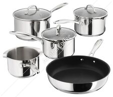 Stellar 7000 S7C1D 5 Piece Set - 3 Draining Saucepans, Milk & Fry Pan