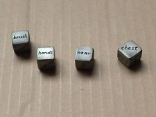 Romantic set of (4) Couples Dice: 1 action, 2 w/ body parts named; 1 preposition
