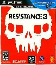 Resistance 3 -  SONY PS3 Action / Shooter Playstation Move Compatible Game