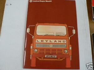 LEYLAND TRUCK VRACHTAUTO BROCHURE PROSPEKT SUPER MASTIFF  DUTCH 30 PAGES SMB1/6