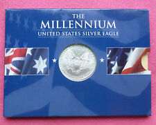 2000  SILVER EAGLE  $1 ONE DOLLAR COIN - COLOURED  NEW AND SEALED