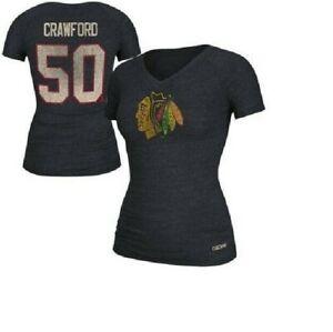 CCM NHL Chicago Blackhawks #50 Hockey Shirt New Womens Sizes