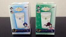 Sailor Mercury and Sailor Jupiter Glasses Set of 2 Sailor Moon Banpresto Japan